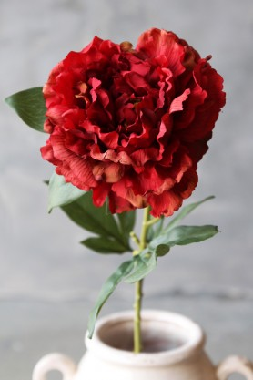Faux Peony - Red