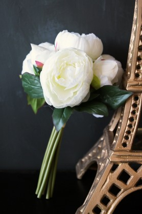 Faux Peony Bunch - Cream