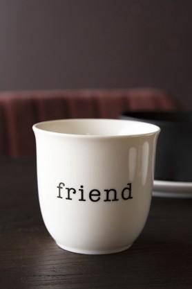 Lifestyle image of the Friend Bone China Mug