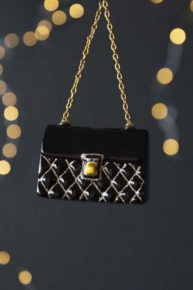 Glamorous Black Handbag Hanging Decoration