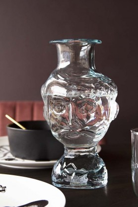 Lifestyle image of the Carlos Glass Face Vase