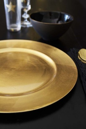Decorative Gold Charger Party Plate