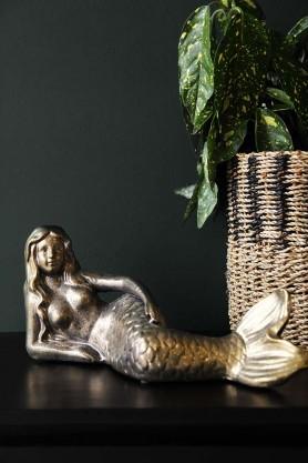 Antique Gold Lying Mermaid