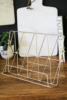 Gold Wire Cookbook Stand