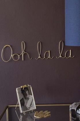 Ooh La La Metal Gold Sign
