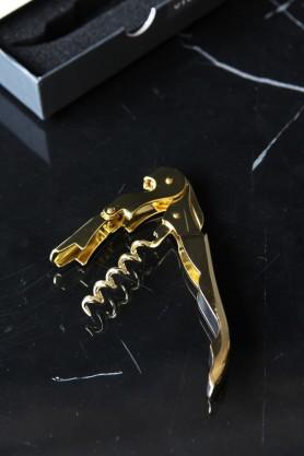 Belmont Gold Plated Corkscrew Bottle Opener