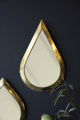 Gold Teardrop Mirror
