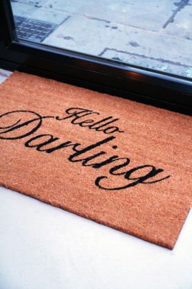 Hello Darling Door Mat