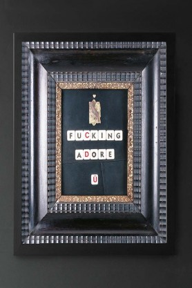 Unframed I Fucking Adore U Art Print With Printed Frame