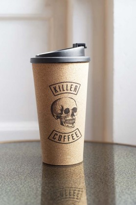 Image of the Killer Coffee Reusable Cork Coffee Cup