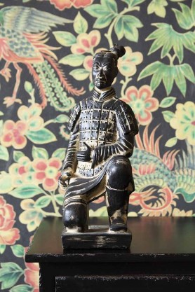 Lifestyle image of the Kneeling Qin Dynasty Figure Ornament