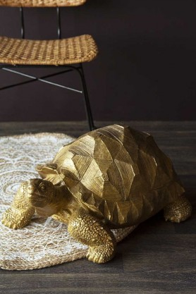 Large Gold Tortoise Display Ornament