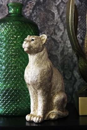 Gold Leopard Coin Bank
