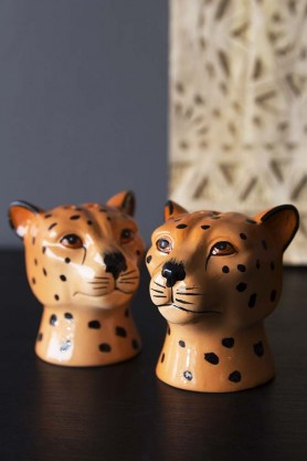 Leopard Salt & Pepper Shakers