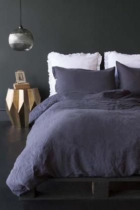 Lisbon Soft Linen Duvet Cover - Slate Grey