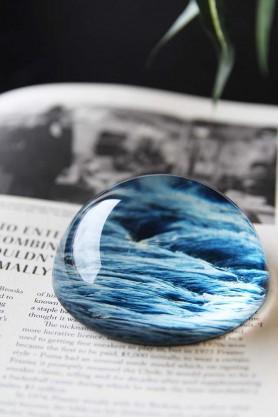 Memento Mori Paperweight - Sea Print