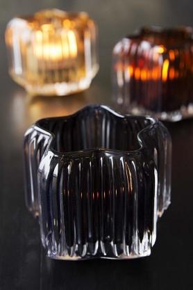 Midnight Twinkle Star-Shaped Glass Tea Light Holder