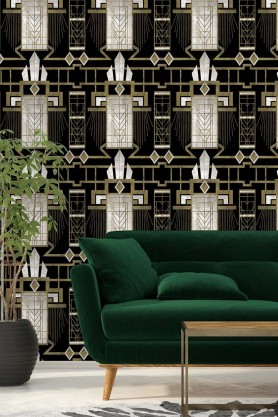 Mind The Gap Metropolis Collection - Glamour Wallpaper - Dark