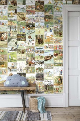 BorasTapeter - Scandinavian Designers Mini Collection - Elsa Beskow's Sagostund Mural