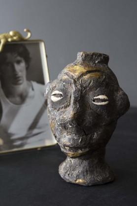 Small Moroccan Vintage Tribal Head