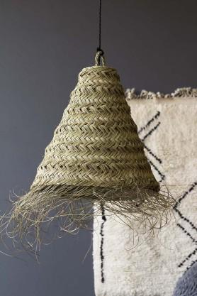 Handmade Moroccan Natural Straw Lamp Shade - 45cm Cone