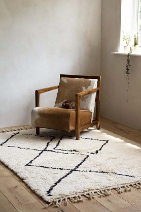 Lifestyle image of the Original Moroccan Berber Large Rug