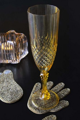 Golden Quality Plastic Champagne Flute