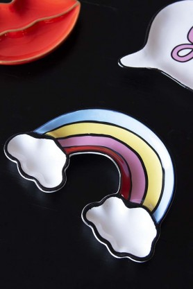 Pride Rainbow & Clouds Trinket Tray