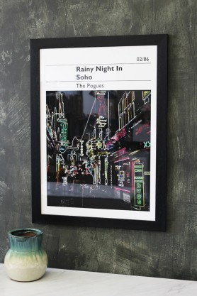 Rainy Night In Soho - The Pogues Art Print - Choose Framed Or Unframed