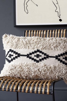 Rectangle Black & Natural Moroccan Benni Cushion