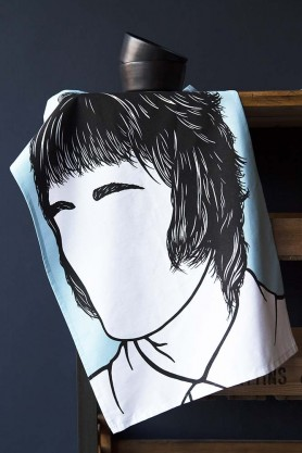 Rock Icon Tea Towel - Liam Gallagher