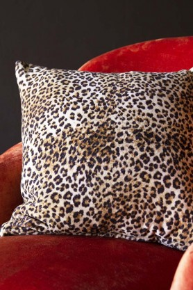 Rockett St George Leopard Love Velvet Cushion
