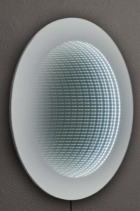 Round Infinity LED Mirror