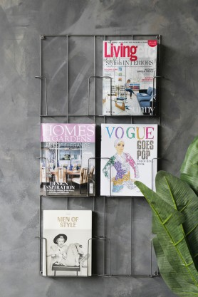 Six-Tier Magazine Wall Rack