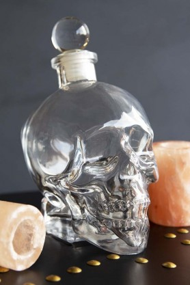 Skull Decanter & Two Salt Shots
