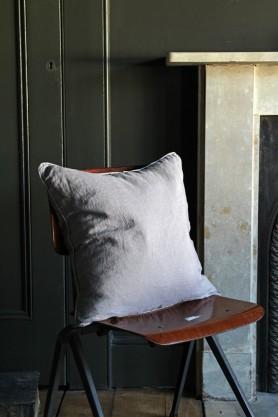 Lisbon Soft Linen Cushion - Grey
