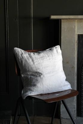 Lisbon Soft Linen Cushion - Silver Grey