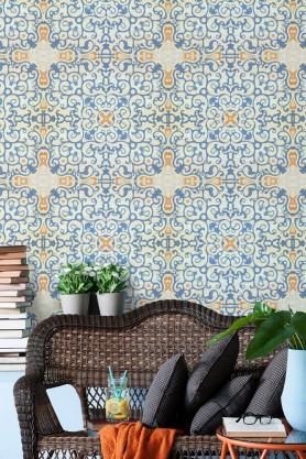 Mind The Gap Spanish Tile Wallpaper