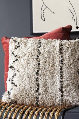 Square Moroccan Benni Cushion With Sequin Detail