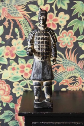 Lifestyle image of the Standing Qin Dynasty Figure Ornament