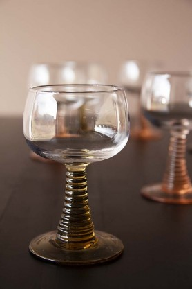 Swirl Wine Glass - Amber