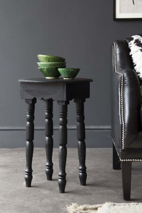 Traditional Moroccan Side Table - Black