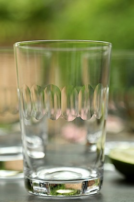 Image of the Lens pattern Vintage Style Crystal Tumbler