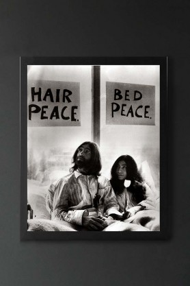 Unframed John Lennon In Bed With Yoko Ono Art Print