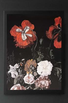 Unframed Winter Garden Floral Art Print