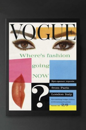 Unframed Vogue 1st September 1961 Art Print
