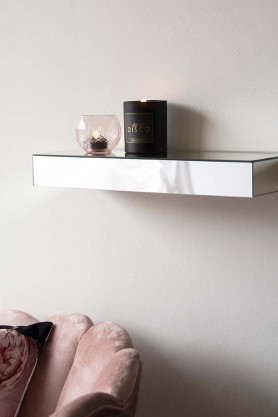 Venetian Mirrored Glass Floating Shelf