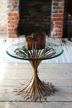 Wheatsheaf Table with Bevelled Glass Top