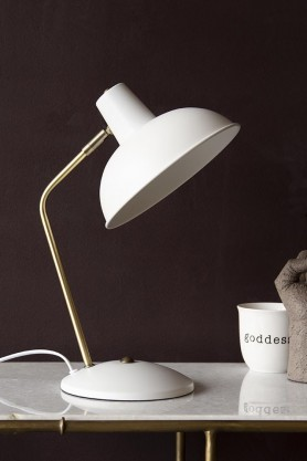 Lifestyle image of the Retro Desk Lamp - Matt White