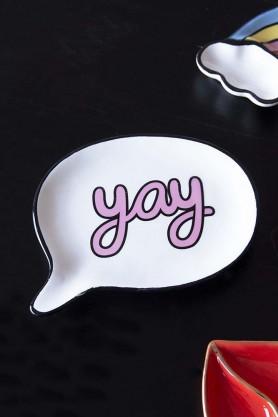 We Say 'yay' Speech Bubble Trinket Tray